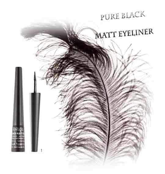PURE BLACK MATT EYELINER About Beauty Karaja